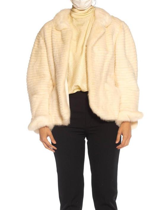 1980S Maximilian White Mink Fur Perfect Little Jacket by SHOPMORPHEW
