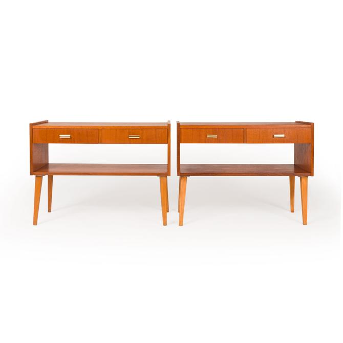 Pair of Danish Mid-Century Modern Teak Nightstands by MCMSanFrancisco