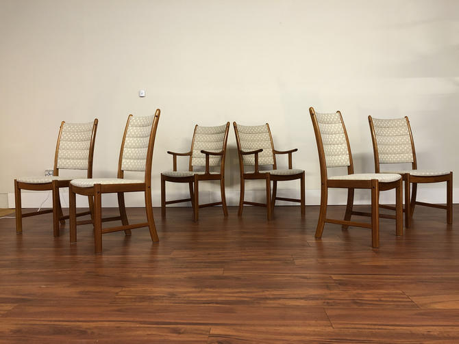 Johannes Andersen Uldum Mobelfabrik Teak Dining Chairs by Vintagefurnitureetc