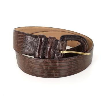 Vintage Genuine Lizard Belt by NoteworthyGarments