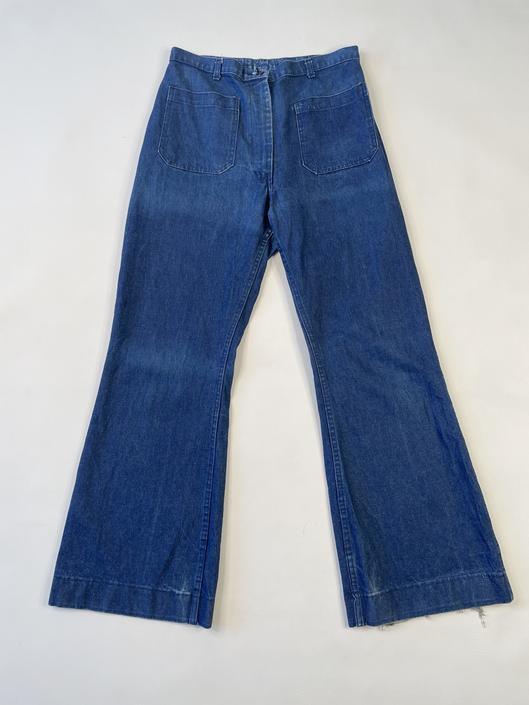 Classic Dark Wash Sailor Jeans