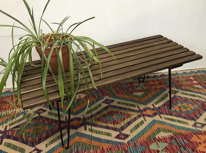 Handmade Slat Bench