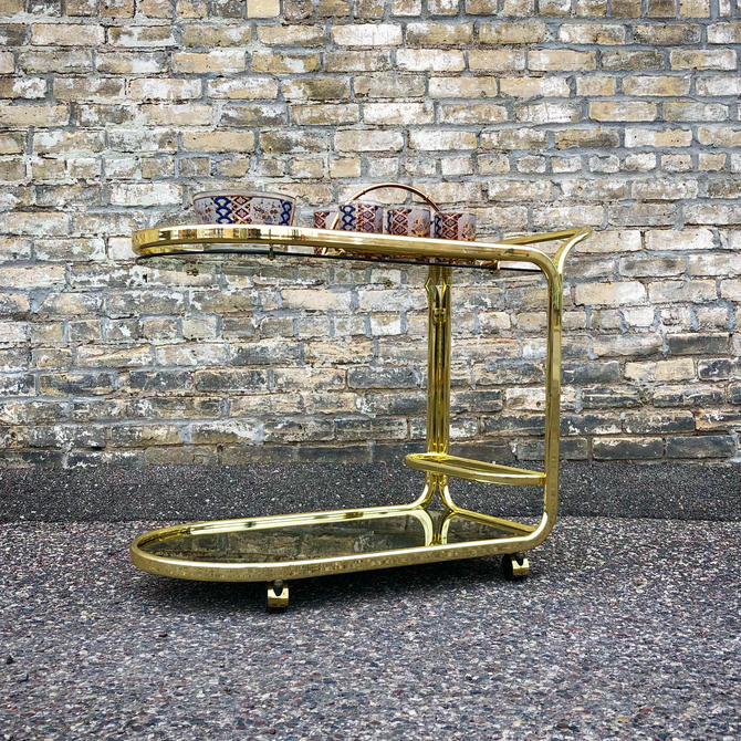 Deco Style Brass Serving Cart