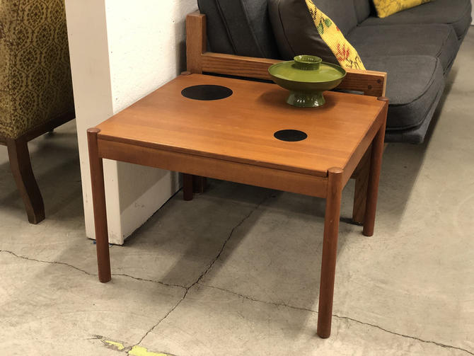 Free and Insured Shipping Within US - Magnus Olesen Danish Mid Century Modern Flip Top Teak Coffee Table Stand (Table Only) by BigWhaleConsignment