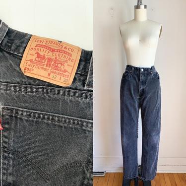 "Vintage 1980s Levis Faded Black Jeans / 31"" waist by MsTips"