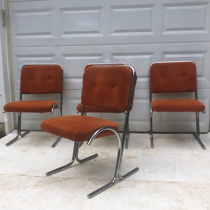 Vintage Modern Dining Room Chairs- Set of Four by secondhandstory