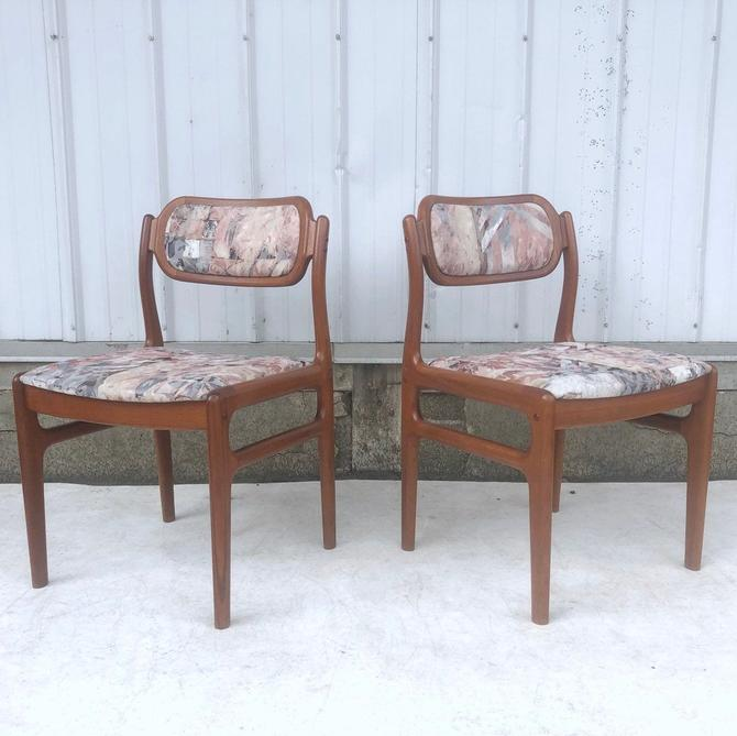 Scandinavian Modern Teak Dining Chairs- Set of Four by secondhandstory