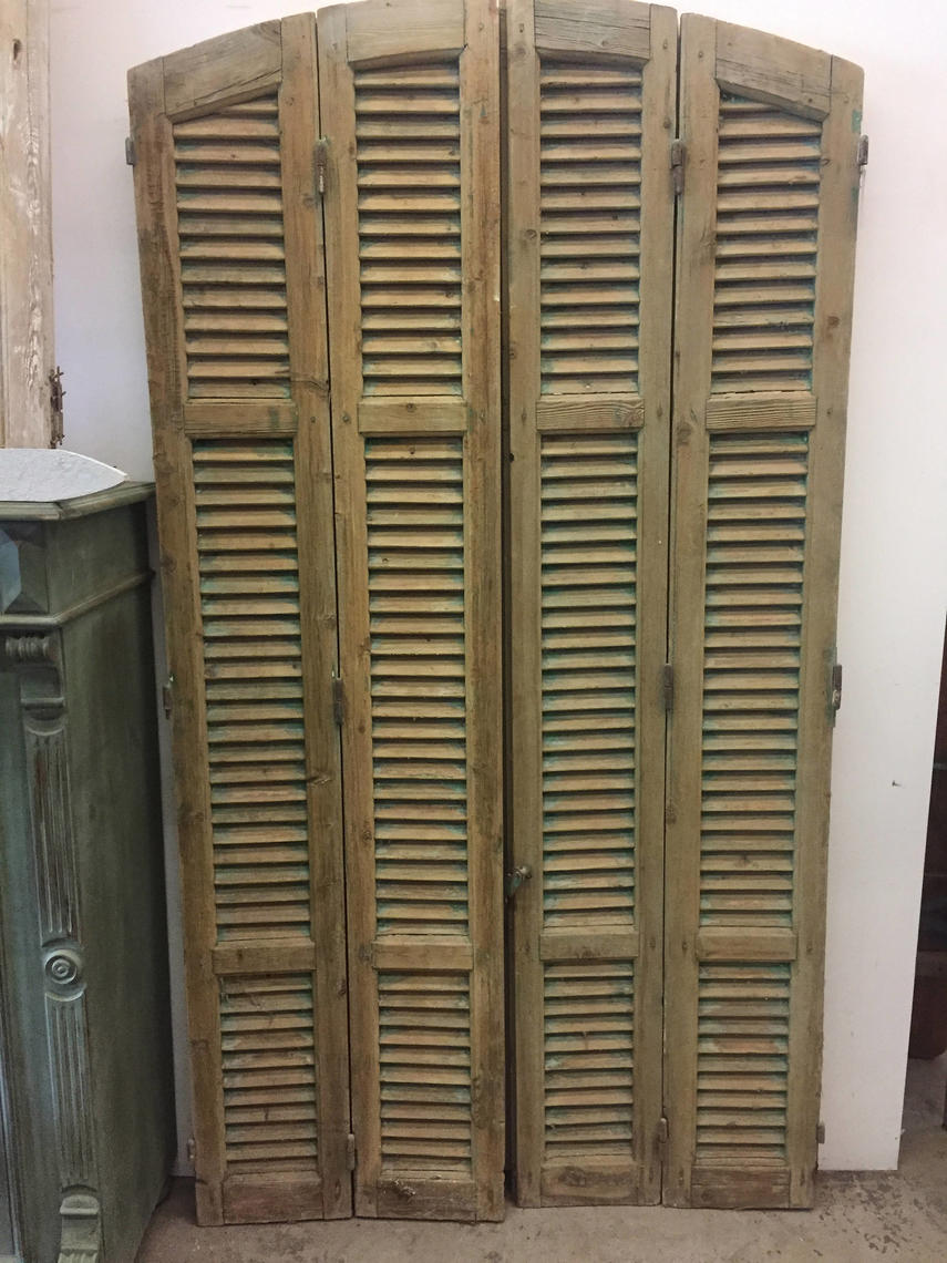 Antique French Shutters Set Of Four Panels Local
