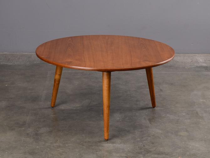 1950's Hans Wegner Round Coffee Table Danish Modern Teak by MadsenModern