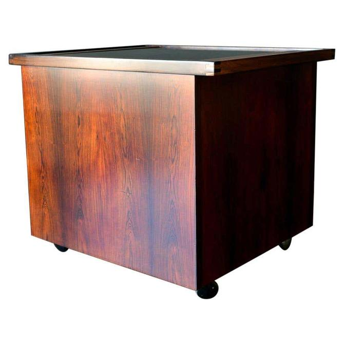 Rosewood Cabinet with Pop Up Bar, ca. 1960