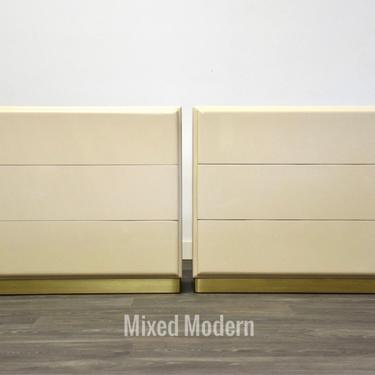 Vintage Thayer Coggin Ivory Cabinets Designed by Milo Baughman by mixedmodern1