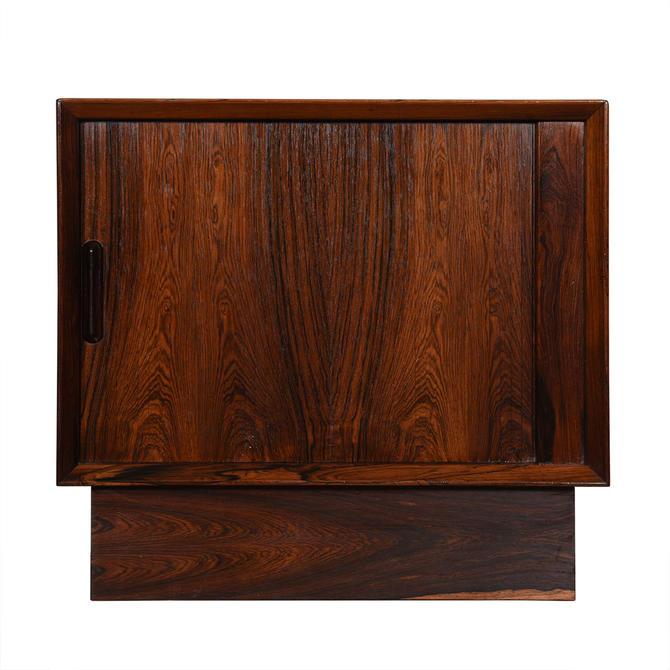 Danish Modern Rosewood Petite Tambour Door Chest
