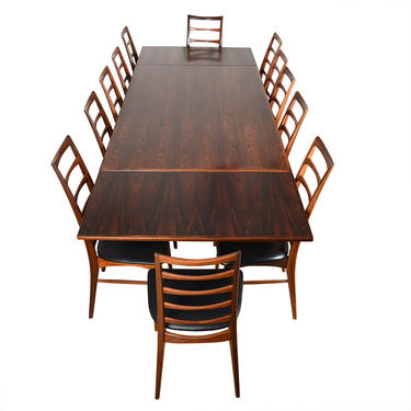 Danish Modern Rosewood Expanding Colossal Dining Table