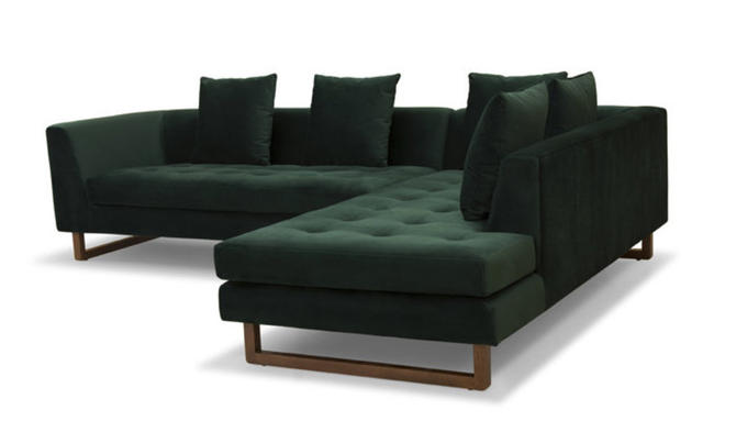 """Charles"" Sectional (Right) in Stax Dark Green"