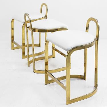 Brass Counter Stool by BetsuStudio