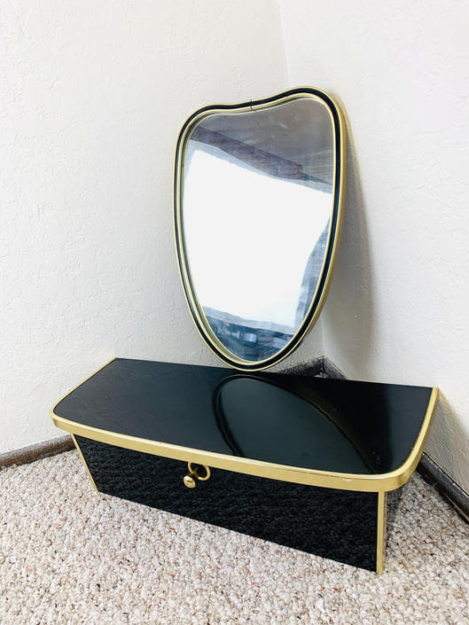 Amazing 50s Mirror and Shelf Drawer Set by dadacat
