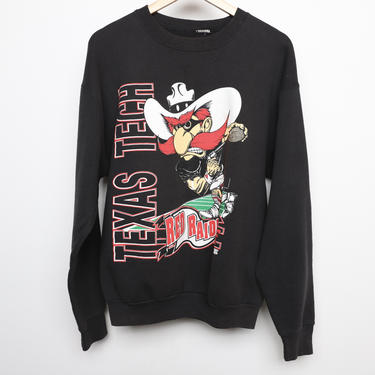 vintage TEXAS TECH University LUBBOCK, Texas black and red football college sweatshirt -- size large by CairoVintage