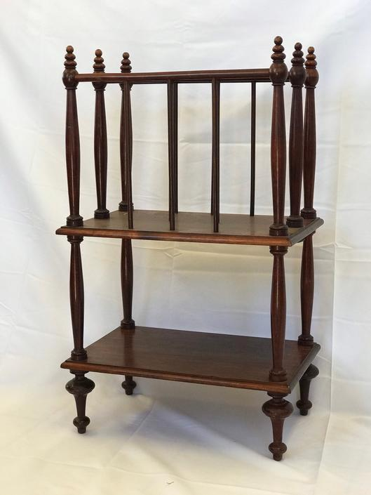 Free and Insured Shipping Within US - Vintage Solid Wood Magazine Organizer Storage Table by BigWhaleConsignment