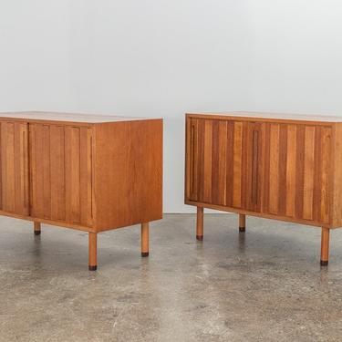 Hans J. Wegner Danish White Oak Cabinet with Rosewood Feet by openairmodern