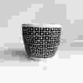 "6"" Pot/Planter-Black White Square with Dot"