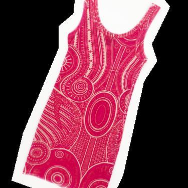 Jean Paul Gaultier pink tattoo print mesh tunic