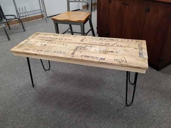 Handmade coffee table / bench by local artist