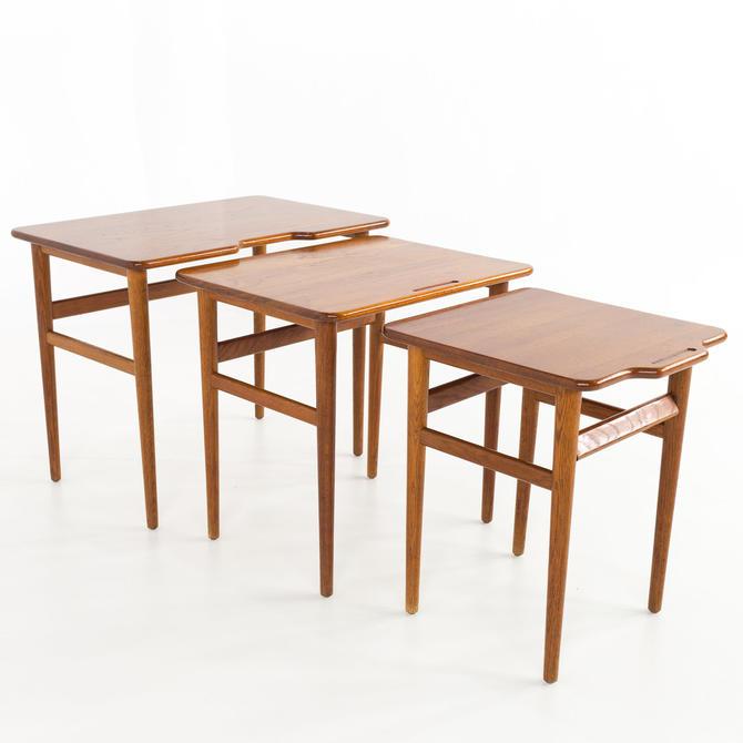 Jason Danmark Danish Teak Mid Century Nesting Side End Tables - mcm by ModernHill