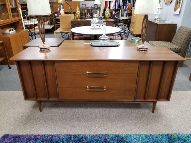 Mid-Century walnut nine drawer dresserby Kent Koffey