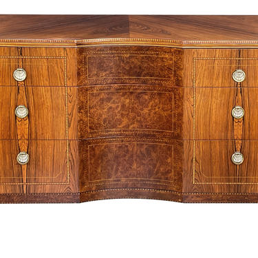 Quality Art Deco Rosewood and Burl Walnut 3-Drawer Chest by Irwin Furniture (1919-1953)