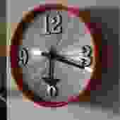 Vintage Mod Elgin Orange Acrylic Wall Clock