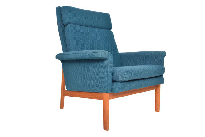 Danish Mid Century Modern Finn Juhl for France and Son Teak Highback Lounge Chair by MidCenturyMobler
