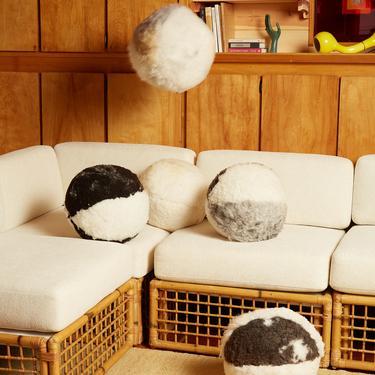 Sheepskin Ball Pillow