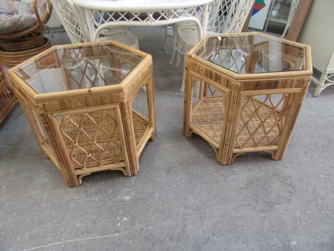 Island Style Bamboo Side Tables