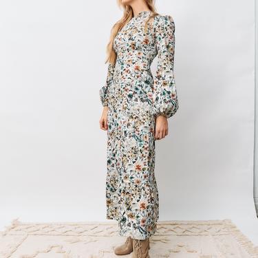 Onirik Floral Print Maxi Dress, Size XS