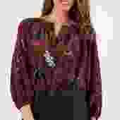 The Classic Blouse | Merlot Lace