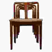 Set of 4 Johannes Andersen for Uldum Møbelfabrik Juliane Teak Dining Chairs