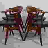 Set of 6 Danish Modern Teak Dining Chairs in the Style of Hans Wegner