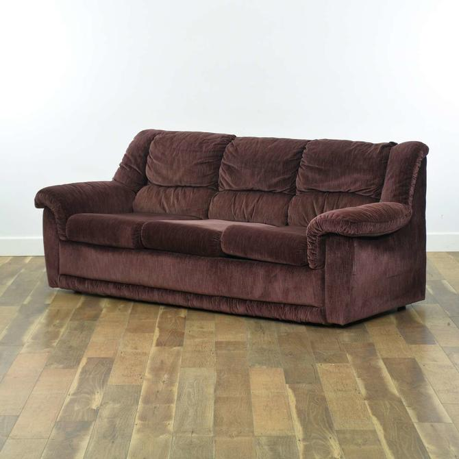 La-Z-Boy Overstuffed Plum Sleeper Sofa