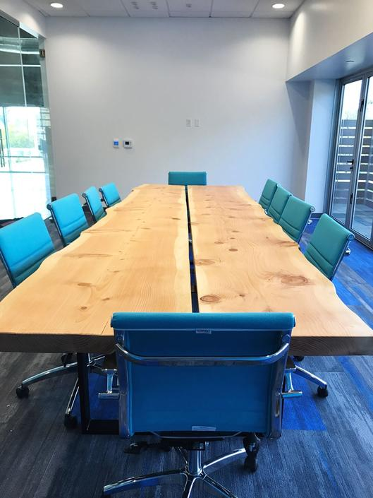 Custom Live Edge Conference Table Quote by TheBeardedBowtie