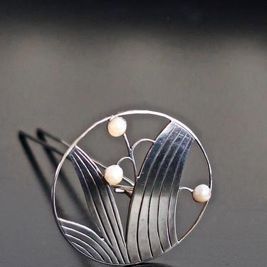 TAISHO Kanzashi Japanese Hair Ornament, Art Deco Japan Silver Hairpin, Bridal Hair Ornament, Lily of the Valley Hairpin, Geisha Ornament by CombAgain