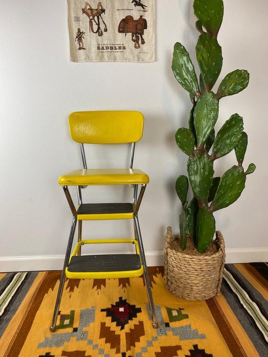 Mid Century Cosco Step Stool / Extra Seat by DesertCactusVintage