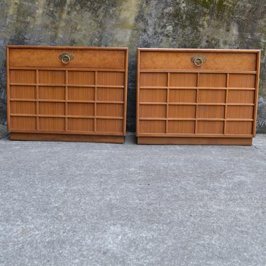 Pair of Mid Century Bachelors Chest -  Nightstands by American of Martinsville by RossDesignCompany