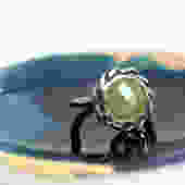 Braided Sterling Silver Yellow Sapphire Handmade Ring by RachelPfefferDesigns