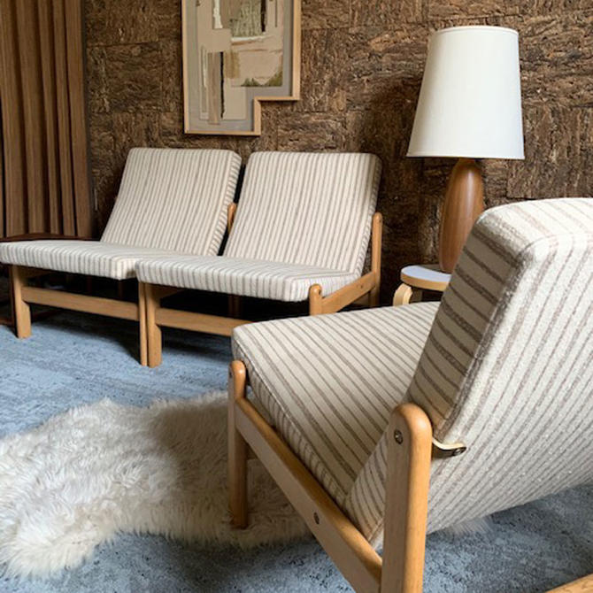 Jorgen Baekmark Oak Slipper Chairs