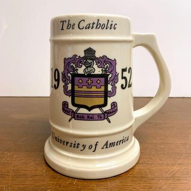 Vintage The Catholic University 1952 Beer Stein Mug Hilary by OverTheYearsFinds