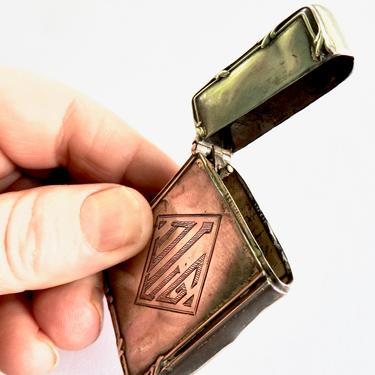 Antique Monogram Silver Match Safe by LegendaryBeast