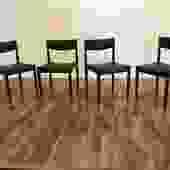 Danish Teak Dining Chairs, Set of 4