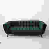 Dark Green Velvet Sofa