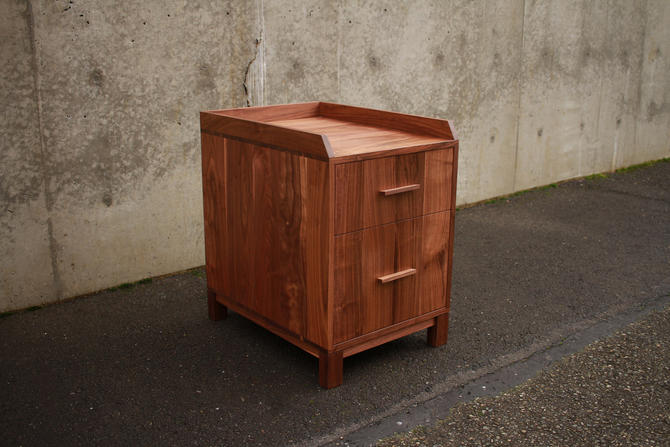 Cady Filing Cabinet, Modern Office Cabinet, Modern Home Office, Solid Hardwood File Cabinet (Shown in Walnut) by TomfooleryWood