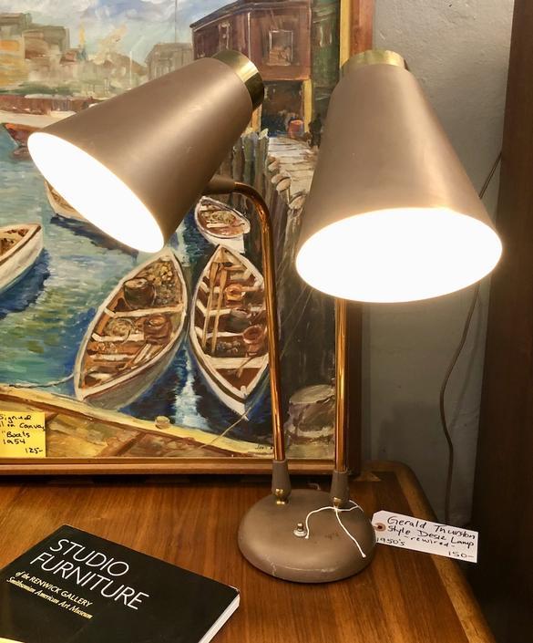 Vintage Gerald Thurston style Desk Lamp